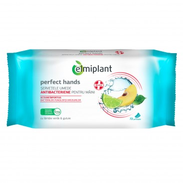 Elmiplant Wet Antibacterial Wipes, 72 pcs
