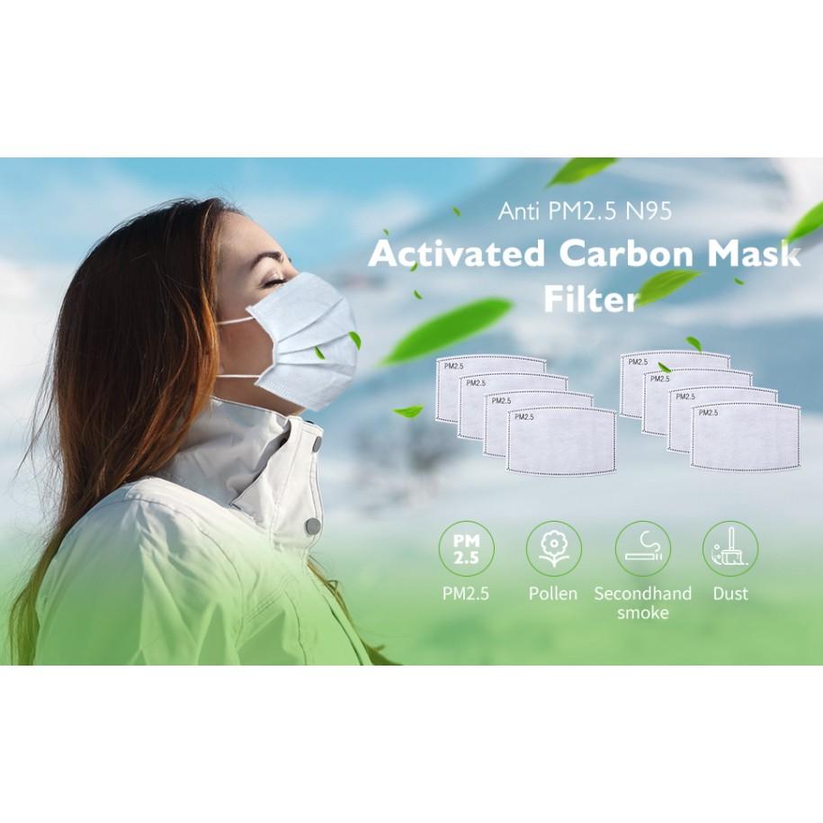 Masca Protectie + 2 Filtre Carbon Activat PM2.5
