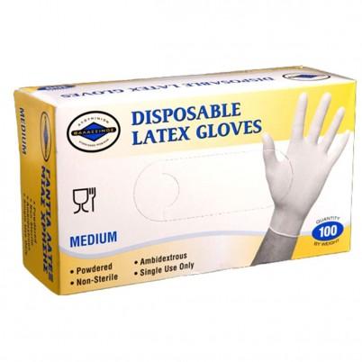 Disposable Latex Gloves Medium - 100 pcs